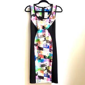 NEW BAR III Black Printed Dress